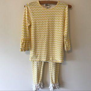 Matilda Jane Size 8 Yellow outfit